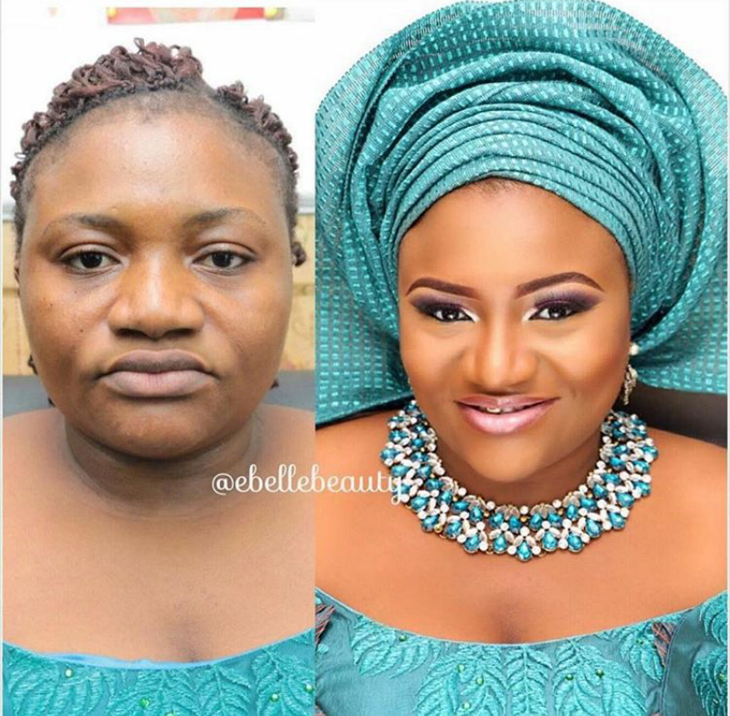 Makeup Ideas nigerian makeup : Before And After - Hi 5 To Nigerian Makeup Artists : Wives Connection