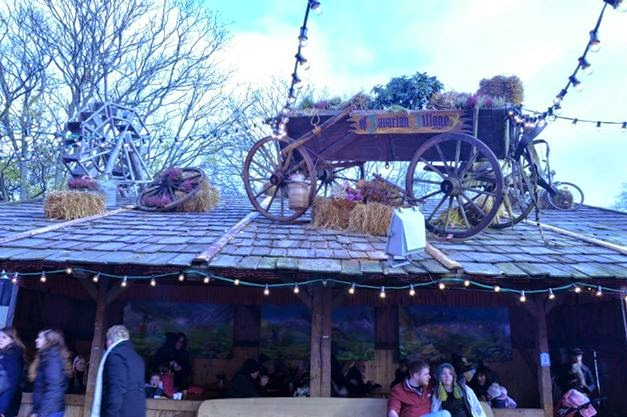The Bavarian Village tent in Winter Wonderland in London's Hyde Park
