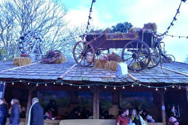 The Bavarian Village tent in Winter Wonderland in London's Hyde Park