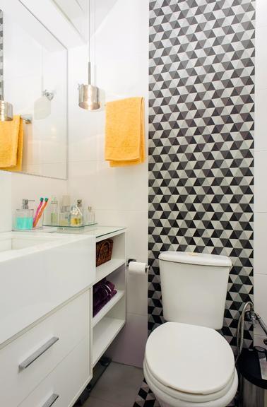 11 banheiros decorados com piso geométrico  Decor Alternativa -> Banheiros Decorados Pisos