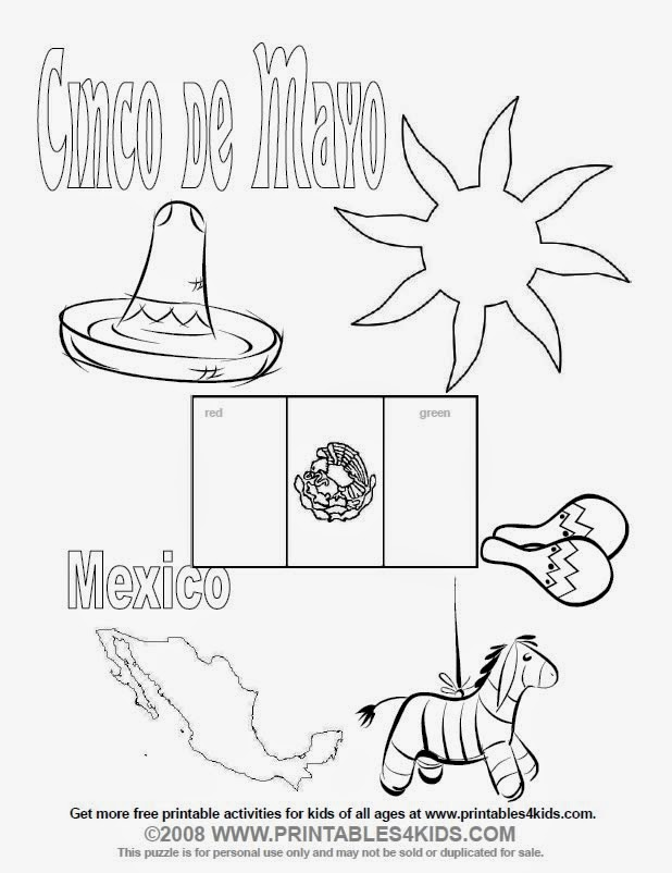 México 5 De Mayo Para Colorear Dibujos Colorear