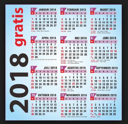Download Kalender 2018 Cover Terbaru
