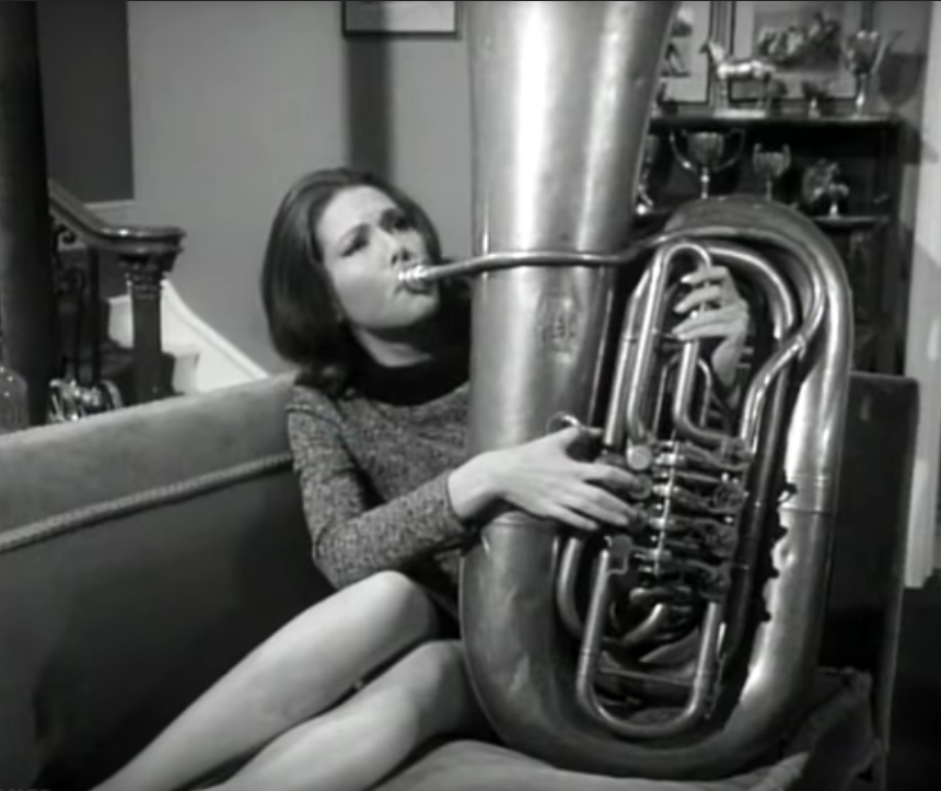 Mrs. Peel Plays Tuba - The Avengers