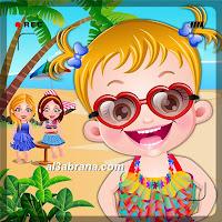 لعبة بيبي هازل فى حفلة على شاطئ البحر