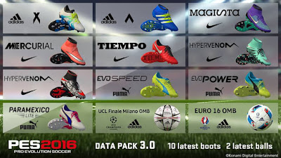 Pes 2016 Boots pack extracted from DLC 3 by pes2016screen