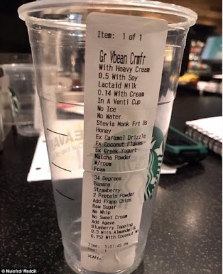 9 Things You Say To Your Bartender That You Also Say To Your Starbucks Barista - When your drink order is so ridiculous