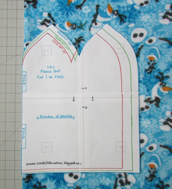 Create Kids Couture Quick And Easy Fleece Hat Pattern