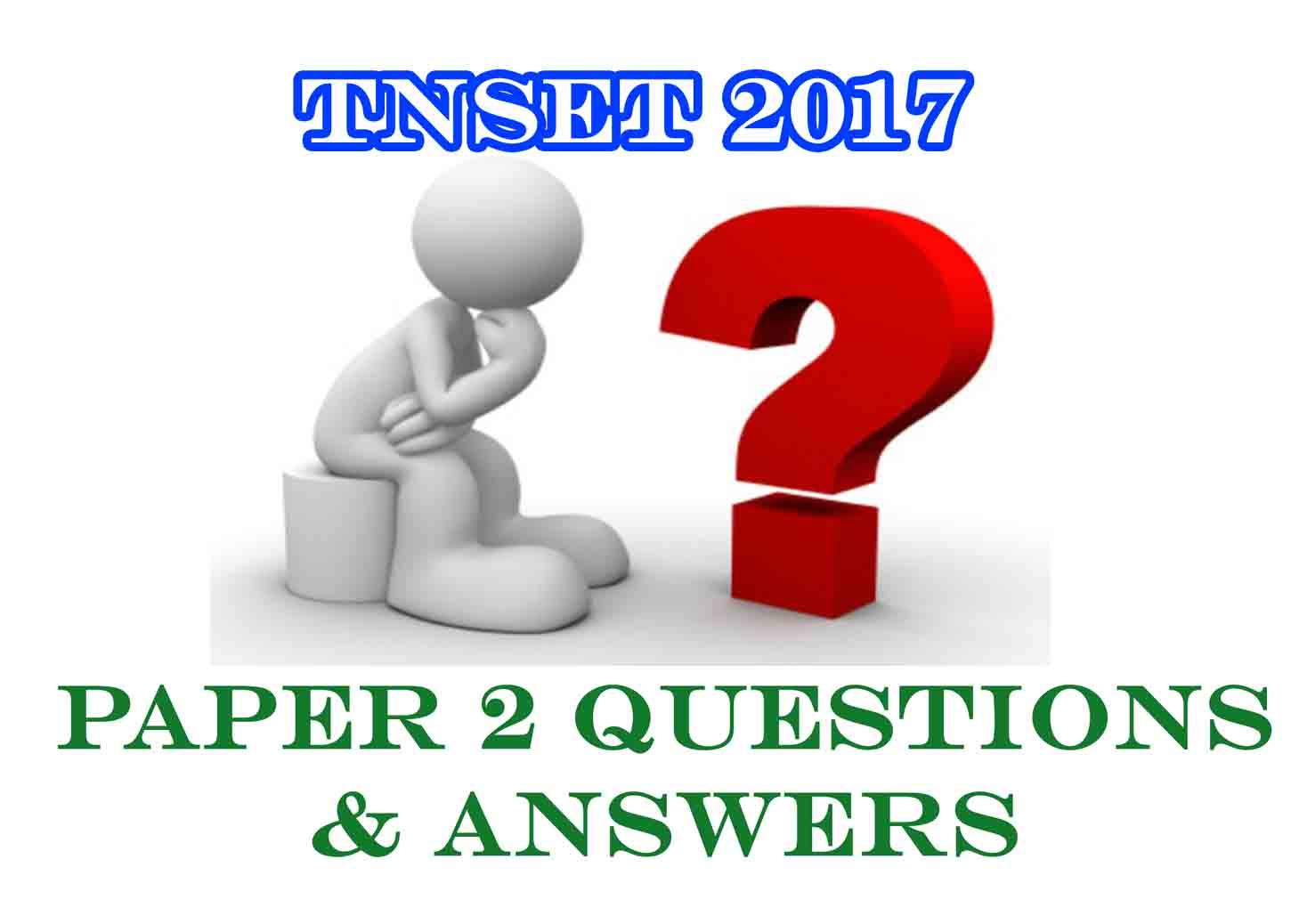 CBSE NET PREPARATION: TNSET 2017 PAPER 2 ALL SUBJECTS