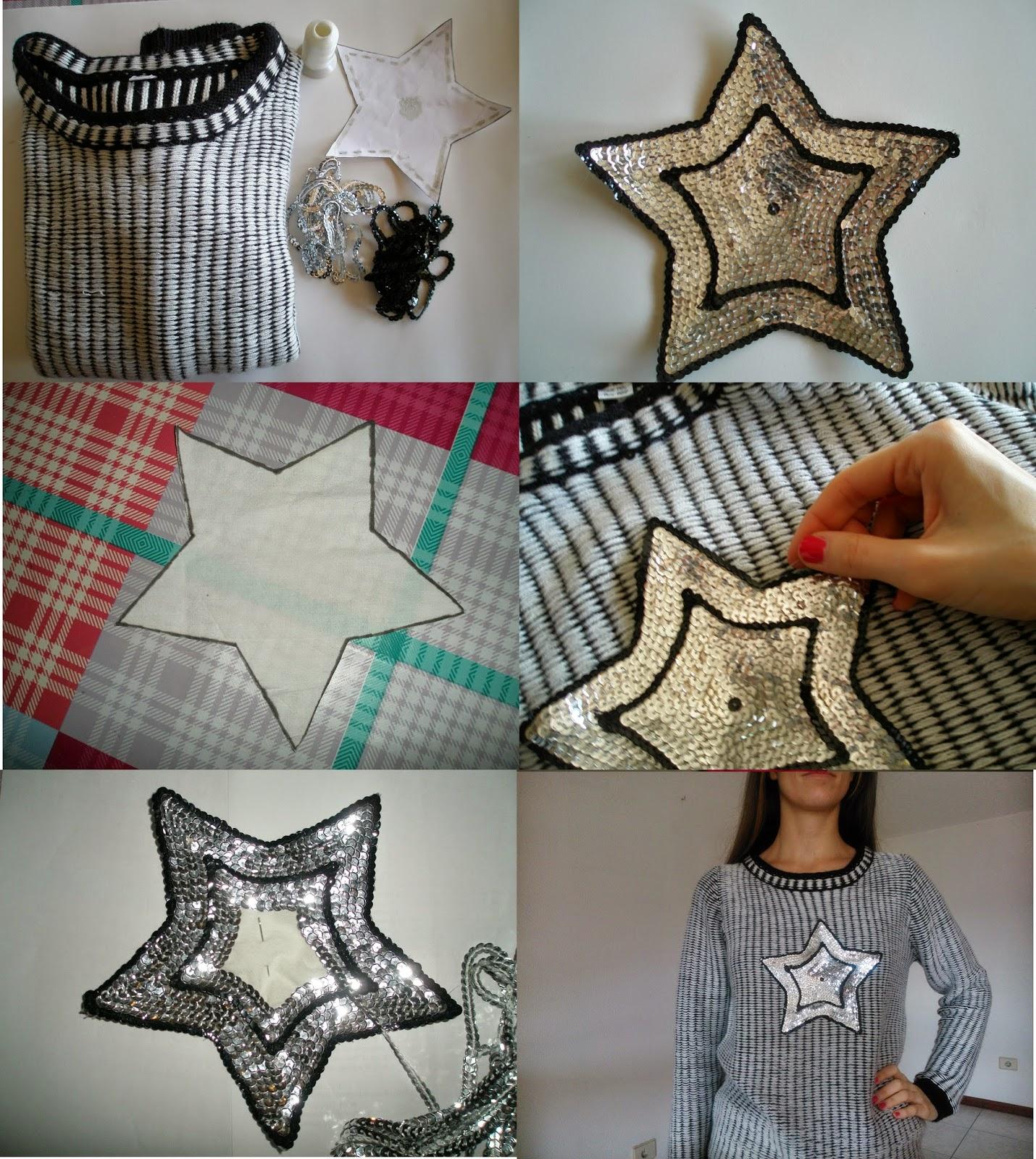 Infografia customizando jersey con lentejuelas DIY