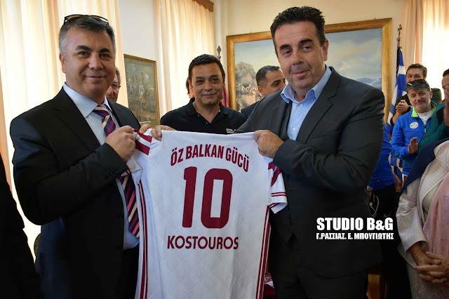 Τουρκική αντιπροσωπεία από την Κωνσταντινούπολη συναντήθηκε με τον Δήμαρχο Ναυπλιέων Δημήτρη Κωστούρο