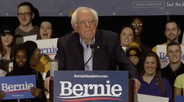 Sanders pushes progressive agenda, targets Trump, as he thanks NH for making him a star
