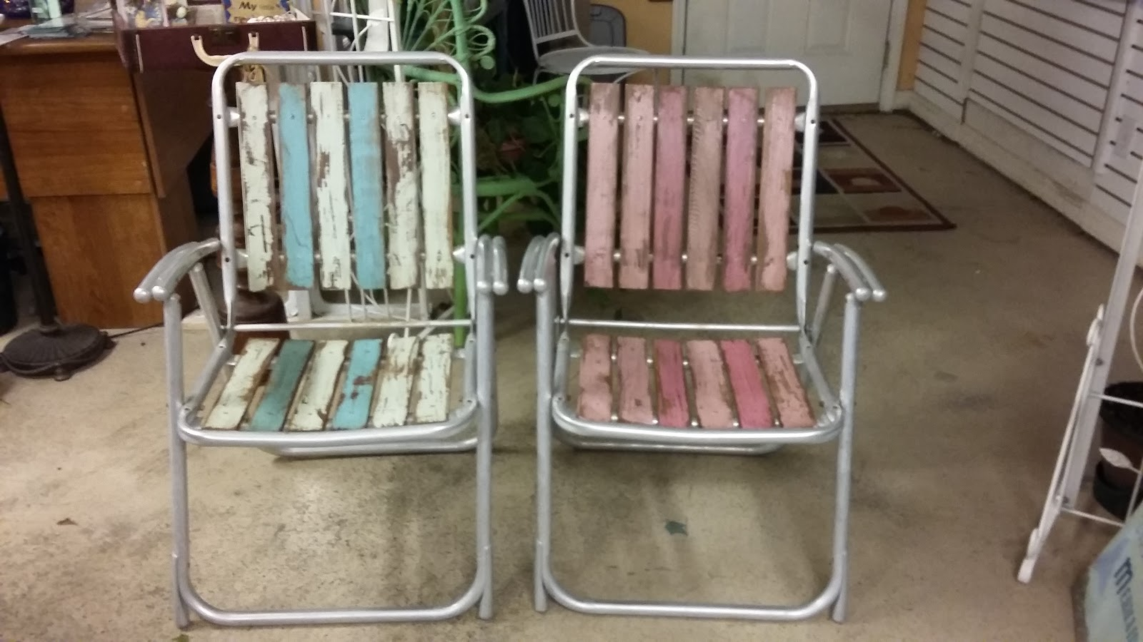 Folding Chair Upcycle Office Vietnam Coastal Bohemian Vintage Chairs