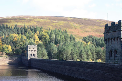 Photo of the dam with the two turrets