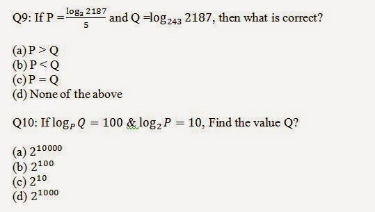 Logarithm Aptitude Problems with Solutions