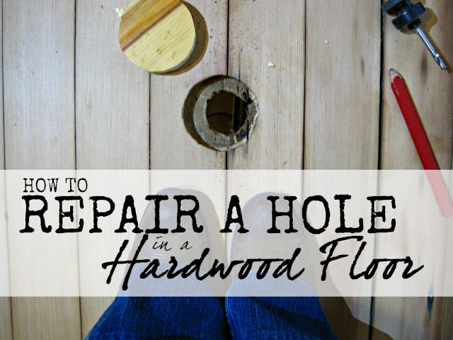 Repairing a hole in a hardwood floor- DIY