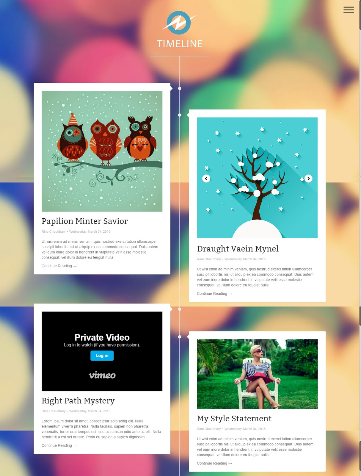 Best Free Blogger Templates Of TheTechPie - Timeline blogger template
