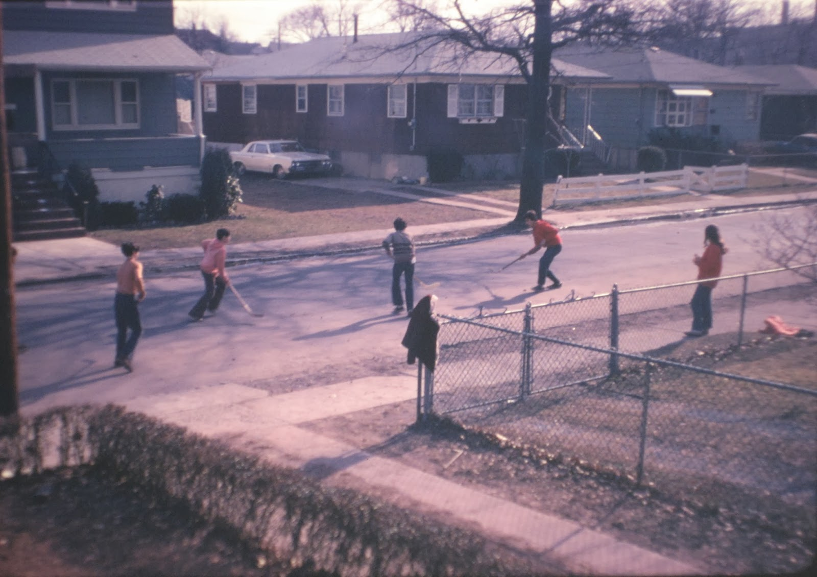 Simonson Ave playground at work! April 1974
