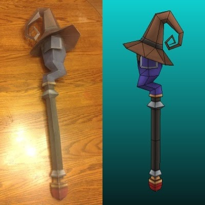 Kingdom Hearts Mage Staff Papercraft