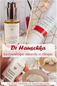 crème mains régénérante, crème hydrante pieds et huile de soin  Dr Hauschka