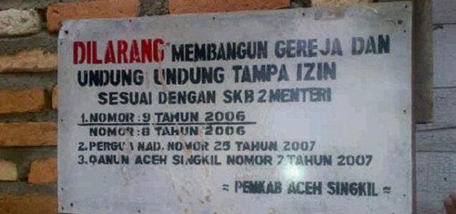 Pemkab Aceh Singkil Larang Gereja Tanpa IMB, tapi Sepuluh Tahun Mengajukan IMB Tak Diberi