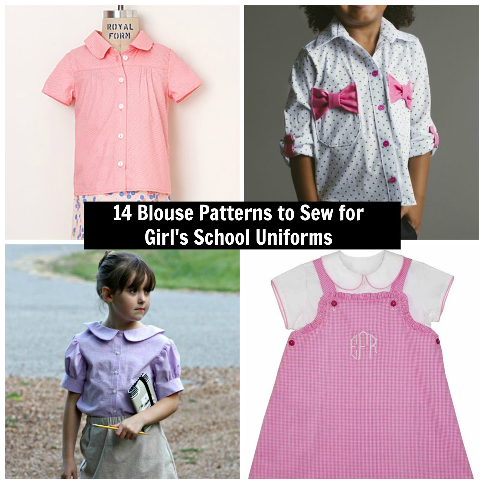 Project run and play contributor post 14 blouse patterns for below youll find 14 great blouse patterns to sew for girls school uniforms as you will see ive actually sewn many of these myself and i own all but jeuxipadfo Image collections