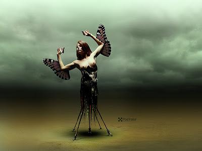 Arte surrealista digital mujer