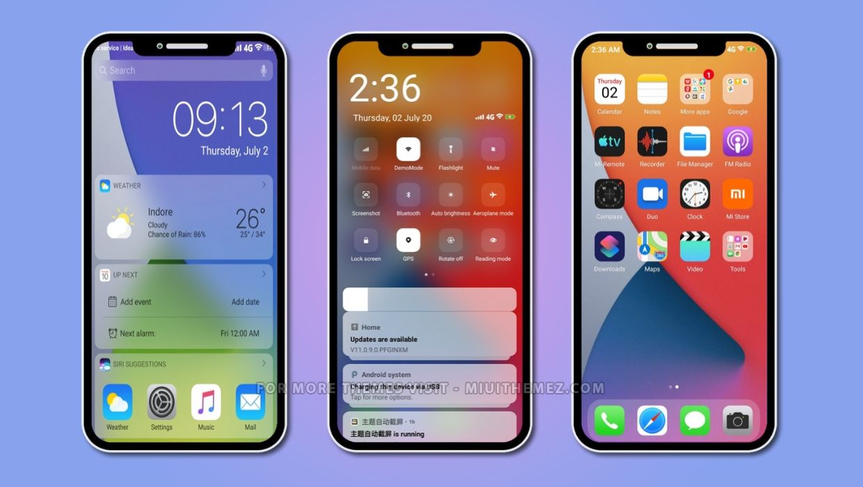 iOS 14.1 dual mode v12 MIUI Theme