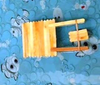Membuat mainan untuk anak SD - Perahu Motor dari Stik Es Krim