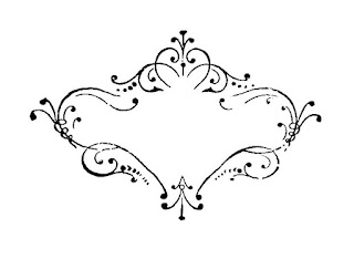 frame damask digital download image