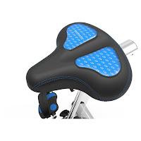 Gel-cushioned saddle on Nautilus U618 Upright Exercise Bike