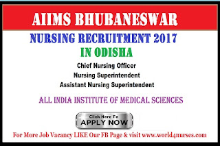 AIIMS Bhubaneswar Nursing Recruitment 2017 in Odisha