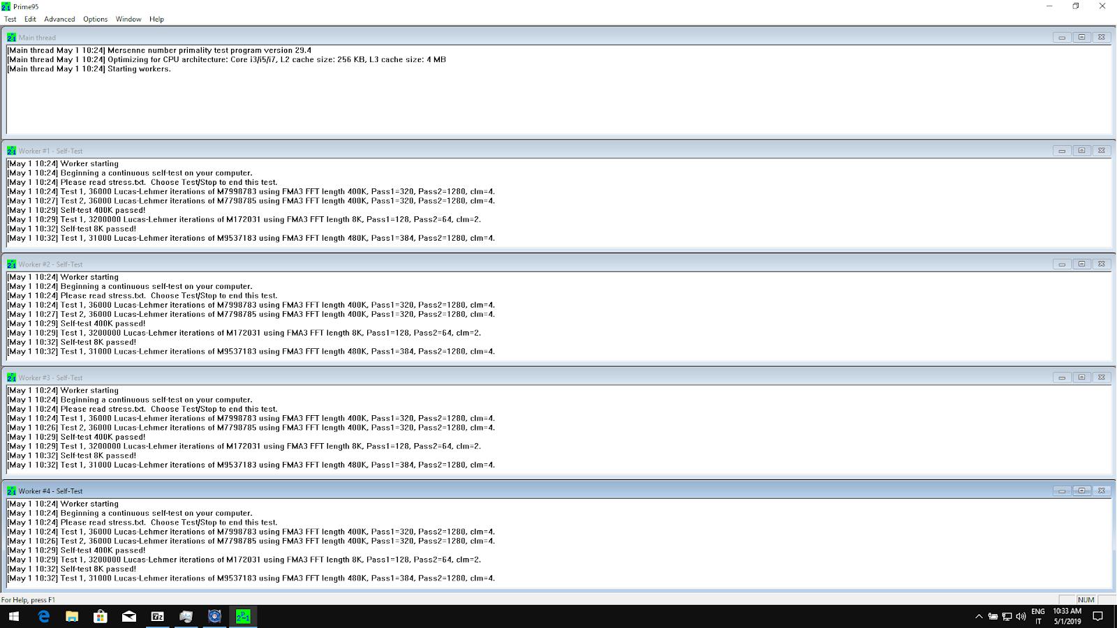 Come fare uno stress test della CPU con Prime95