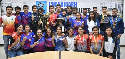 Winning students of CGC Landran