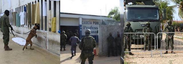 Marinha encontra celulares, armas e drogas na Cadeia Pública de Natal
