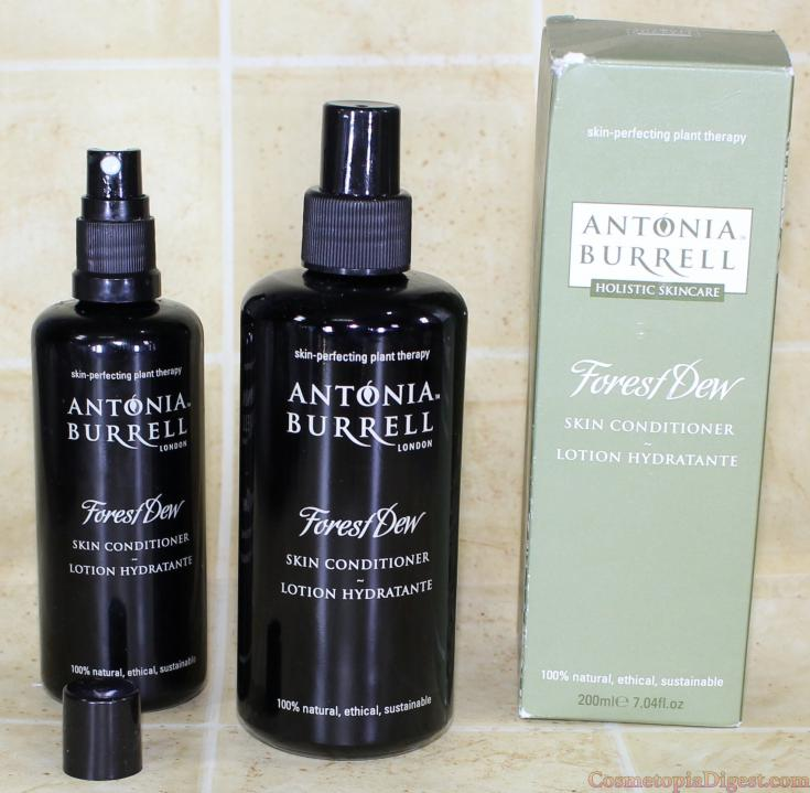 Antonia Burrell Forest Dew Skin Conditioner is a cruelty-free, natural multitasking skincare serum, toner, beauty water and moisturiser.