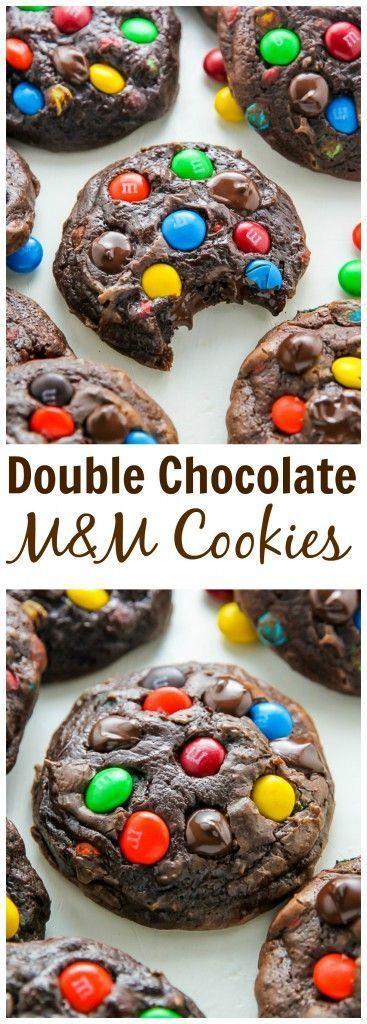 Soft Batch Chocolate M&M Cookies #chocolate #chocolatechip #softbatch #cookies #cookiesrecipes