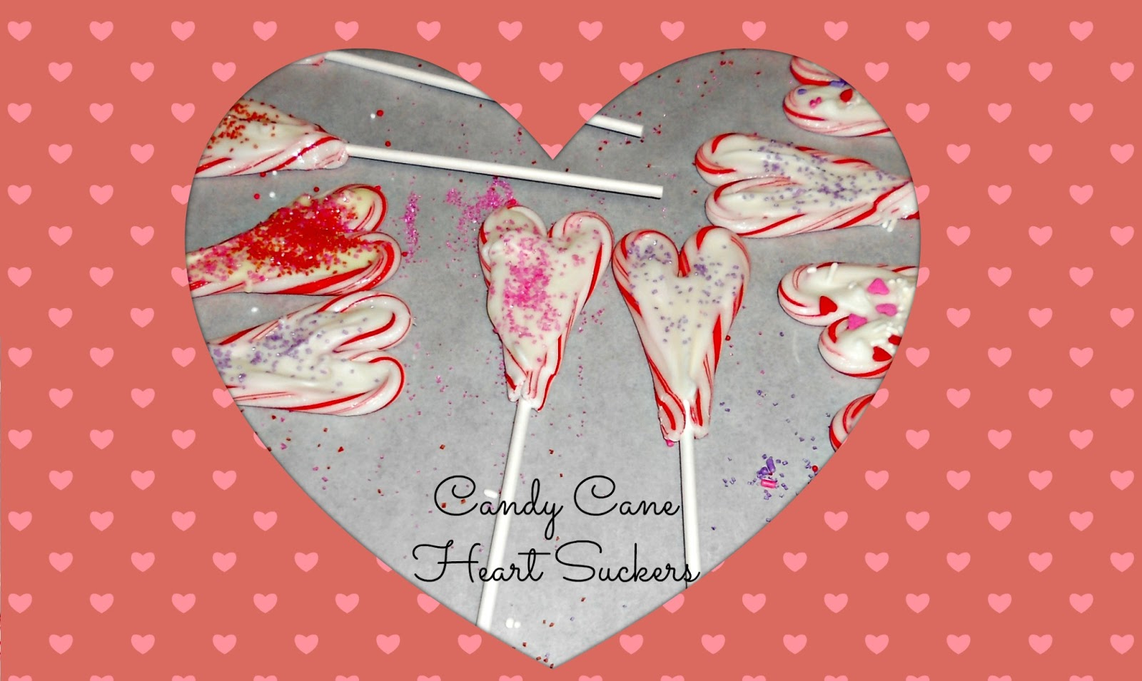 Candy Cane Heart Suckers