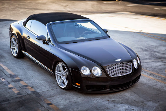 lowered bentley continental