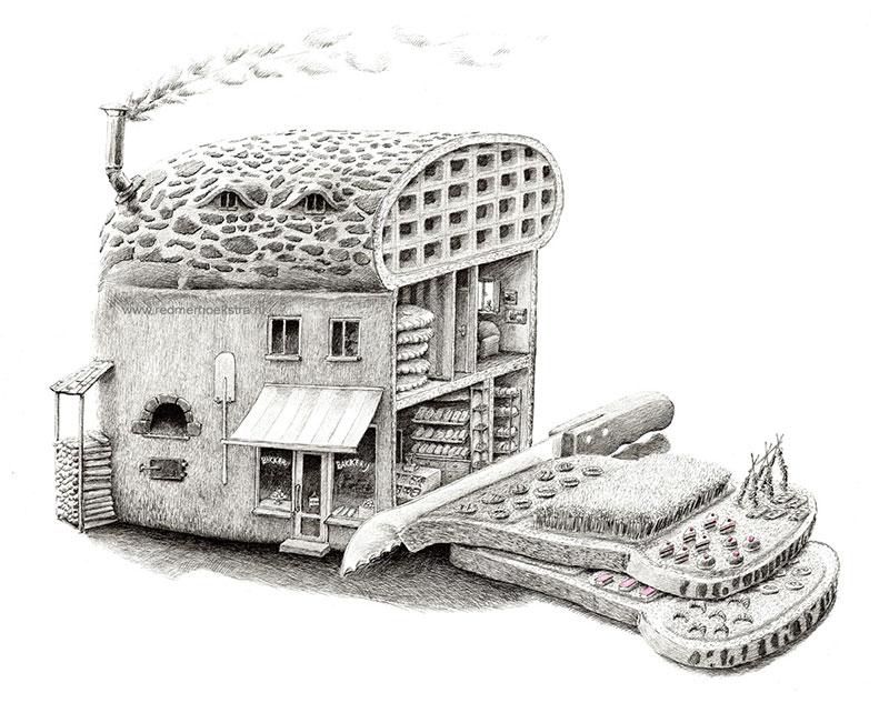 Surreal Drawings by Redmer Hoekstra