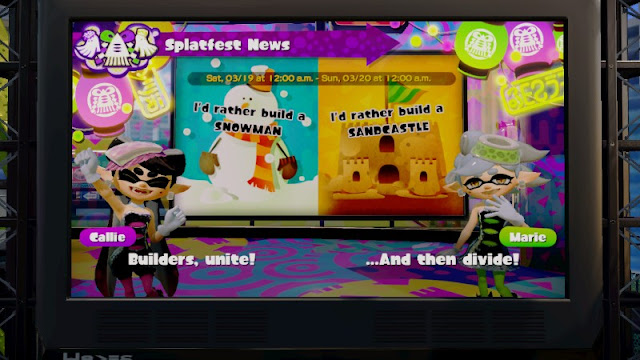 Callie Marie Splatoon Splatfest would rather build a snowman sandcastle divide
