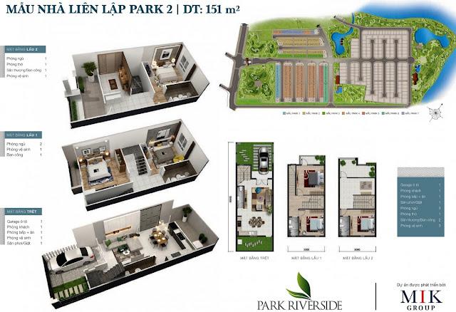 Mẫu Biệt thự - Nhà phố LL02 Park River Side quận 9 HCM