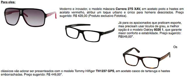 Para elas, óculos glamorosos e cheios de charme e, para eles, opções  modernas e superestilosas. Confira! cefa923c55