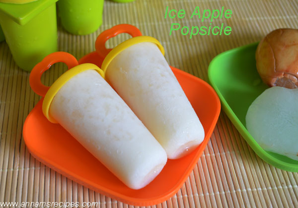 Ice Apple Popsicle / Nungu Popsicle