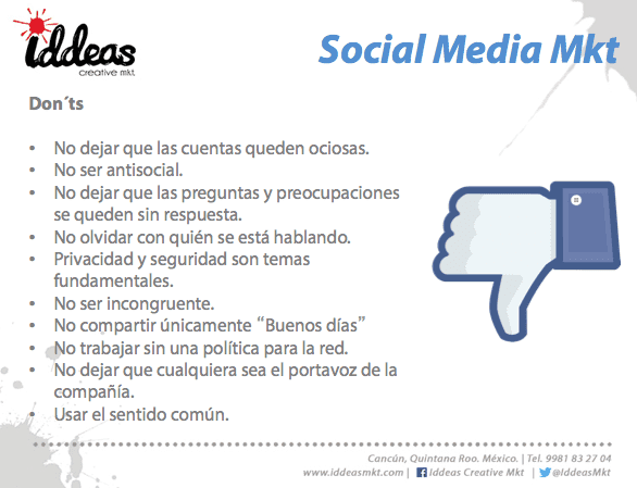 Lo que NO debes hacer social media marketing
