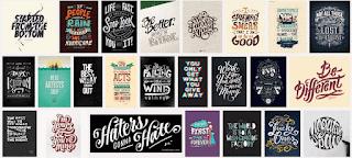 Desain Kaos Distro Tipografi