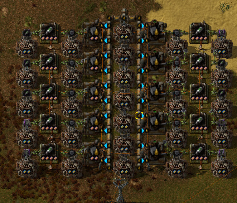 awesome pictures: Factorio Rocket Fuel Setup