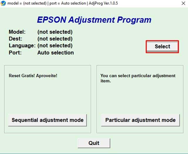 Reset almoadillas Epson l810 y L850