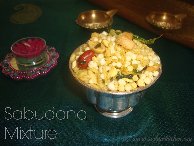 images of Sabudana Mixture Recipe / Sabudana Chivda Recipe / Sago Mixture Recipe / Javvarisi Mixture Recipe / Sabudana Namkeen Recipe