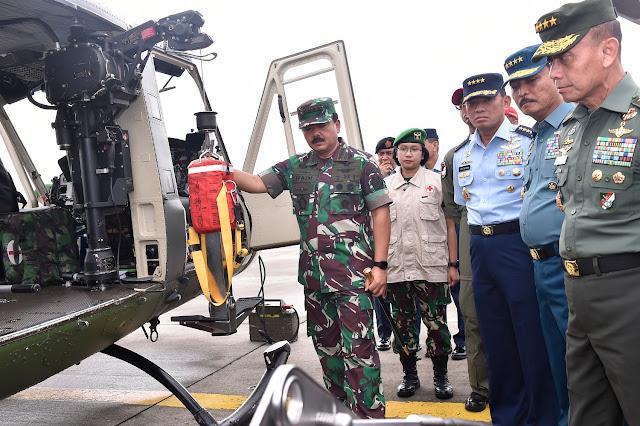 Panglima TNI Tinjau Kesiapan Medik Udara di Lanud Halim Perdanakusuma