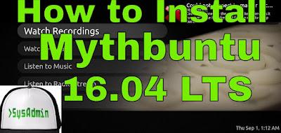 Mythbuntu 16.04 LTS